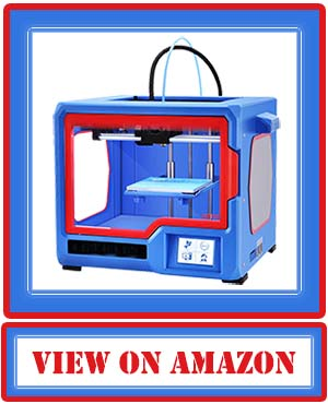 QIDI TECH X-one2 3D Printer Red-Blue Color Version 3D Printing Kit Touch Screen 3D Printing Machine with Platform Heating